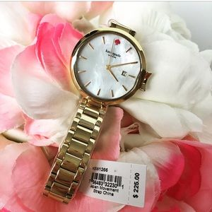 NWTs Kate Spade Park Row Gold Stainless Watch